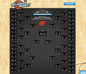 Klout Influencer Insanity Bracket | Social Media Influence Tournament